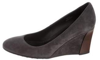 Tod's Suede Wedge Pumps grey Suede Wedge Pumps