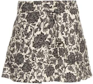 Zimmermann Empire Apron linen mini skirt