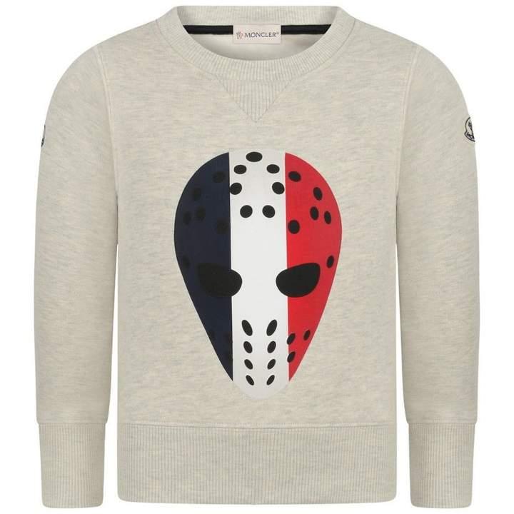 MonclerBoys Oatmeal Hockey Mask Sweater