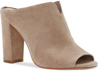 Vince Camuto Sarina Peep-Toe Slides Women's Shoes $129 thestylecure.com