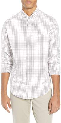 J.Crew Slim Fit Stretch Secret Wash Stripe Tattersall Sport Shirt