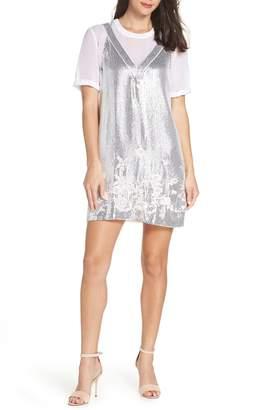 French Connection Ello Sparkle Sequin Shift Dress