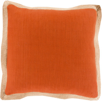 Surya Jute Flange Handcrafted Pillow