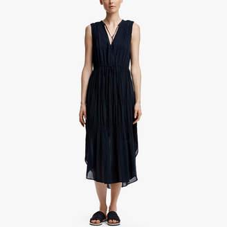 James Perse Pleated Chiffon Dress