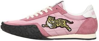 Kenzo 20mm K Move Nylon & Suede Sneakers