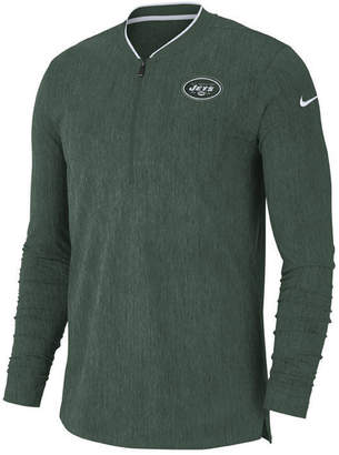 Nike Men New York Jets Coaches Quarter-Zip Pullover