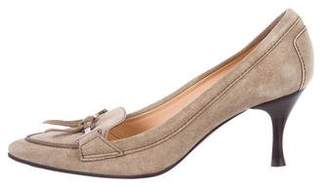 Tod's Suede Pointed-Toe Pumps