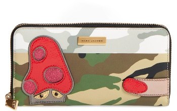 Marc Jacobs Women's Marc Jacobs Camo Leather Wallet - Green
