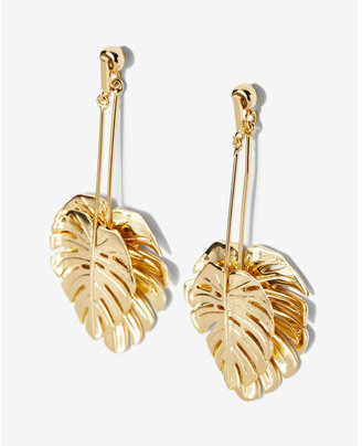 Express Palm Leaf Drop Earrings $34.90 thestylecure.com