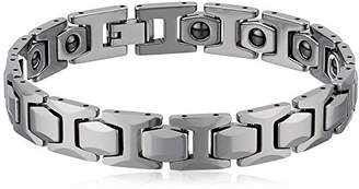 Equipment Men's Tungsten High Polished Magnetic Therapy Bracelet