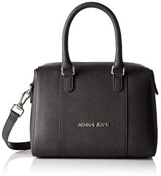 Armani Jeans Saffiano Medium Boston Bag