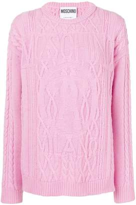 Moschino patterned loose sweater