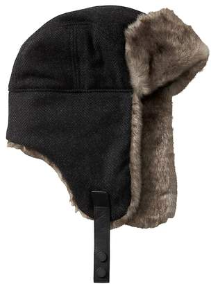 Banana Republic Herringbone Trapper Hat