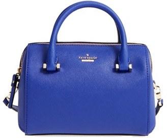 Kate Spade New York Cameron Street Lane Leather Satchel - Blue $228 thestylecure.com