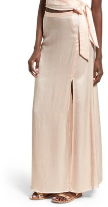 Women's Leith Satin Maxi Skirt $69 thestylecure.com