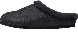 Birkenstock Kaprun WZ Wool Felt Happy Lamb Clogs Anthracite/Black