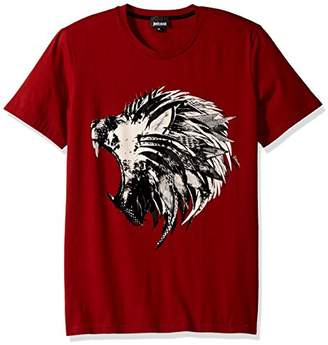 Just Cavalli Men's Just Animal Velvet Print Tee