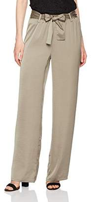 Ellen Tracy Women's Belted Wide Leg Trouser