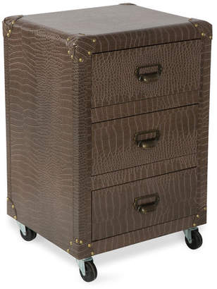 3 Drawer New York Faux Leather Bedside Unit