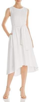Donna Karan Belted High/Low Dress