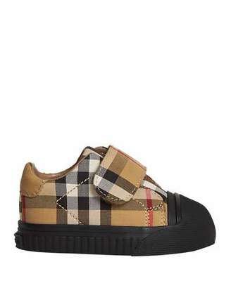 Burberry Beech Check Sneakers with Black Sole, Infant/Toddler Sizes 3M-5T