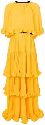 MSGM tiered ruffle maxi dress