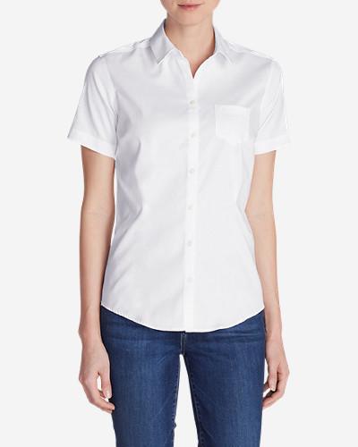 Eddie bauer women 39 s wrinkle free short sleeve shirt for Best wrinkle free shirts