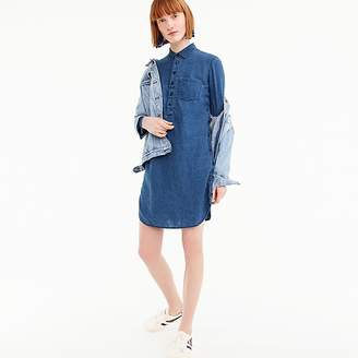 J.Crew Tall side-button shirtdress in chambray