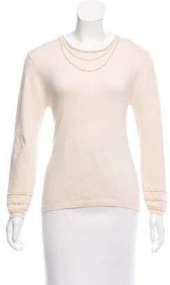 Nicole Miller Silk Embellished Sweater w/ Tags
