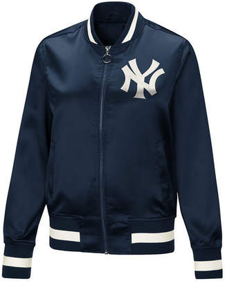 New York Yankees Touch by Alyssa Milano Women's Touch Satin Bomber Jacket