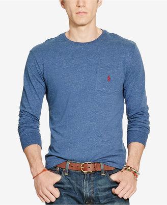 Polo Ralph Lauren Men's Long-Sleeve Pocket Cotton Shirt $49.50 thestylecure.com