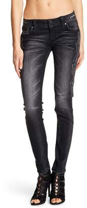Miss Me Metallic Embroidered Skinny Jeans