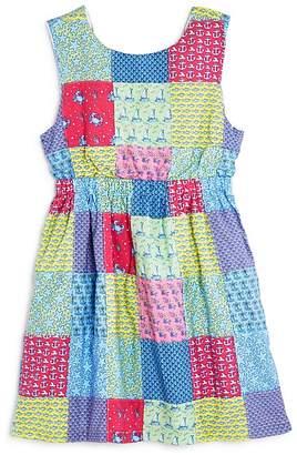 Vineyard Vines Girls' Patchwork Tie-Back Dress - Little kid
