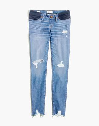 Madewell Maternity Skinny Jeans: Knee-Rip Edition