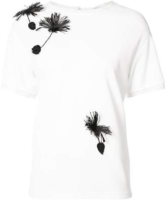 Carolina Herrera Floral embroidered T-shirt