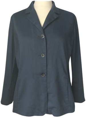 Pablo Blue Cotton Jacket for Women