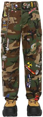Vetements Stickers Camo Canvas Cargo Pants