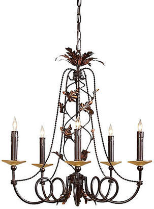 Ashley 5-Light Chandelier - Amber/Gold - Jonathan Charles