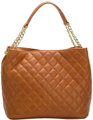 Italian Leather Quilted Leather Hobo