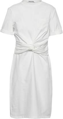 Walter W118 By Baker Trish Twisted Cotton-blend Jersey Mini Dress