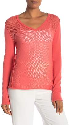 Subtle Luxury Cashmere Seamed Deep V-Neck Sweater