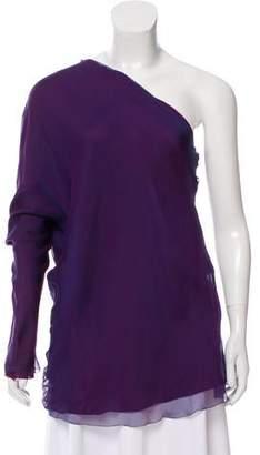 The Row Baeen Silk Top