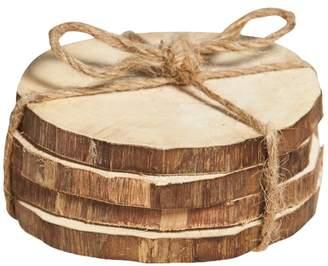 Set of 4 Bleached Semarang Wood Coasters