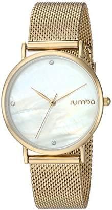 RumbaTime Women's 'Lafayette' Plated Stainless Steel Mesh Bracelet Casual Watch (Model: 27723)