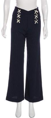 Veronica Beard Quinn Lace-Up Wide-Leg Pants w/ Tags