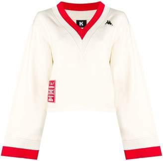 Kappa Kontroll contrast v-neck jumper