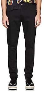 Prada Men's Side-Striped Skinny Jeans-Black
