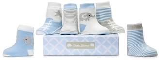 Elegant Baby Boys' Cutie Blues Socks, 6 Pack - Baby