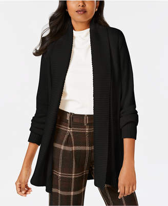 Charter Club Shawl-Collar Long-Sleeve Cardigan