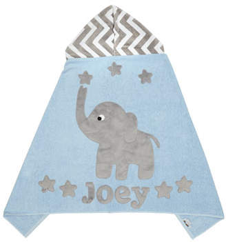 Boogie Baby Personalized Big Foot Elephant Hooded Towel, Gray